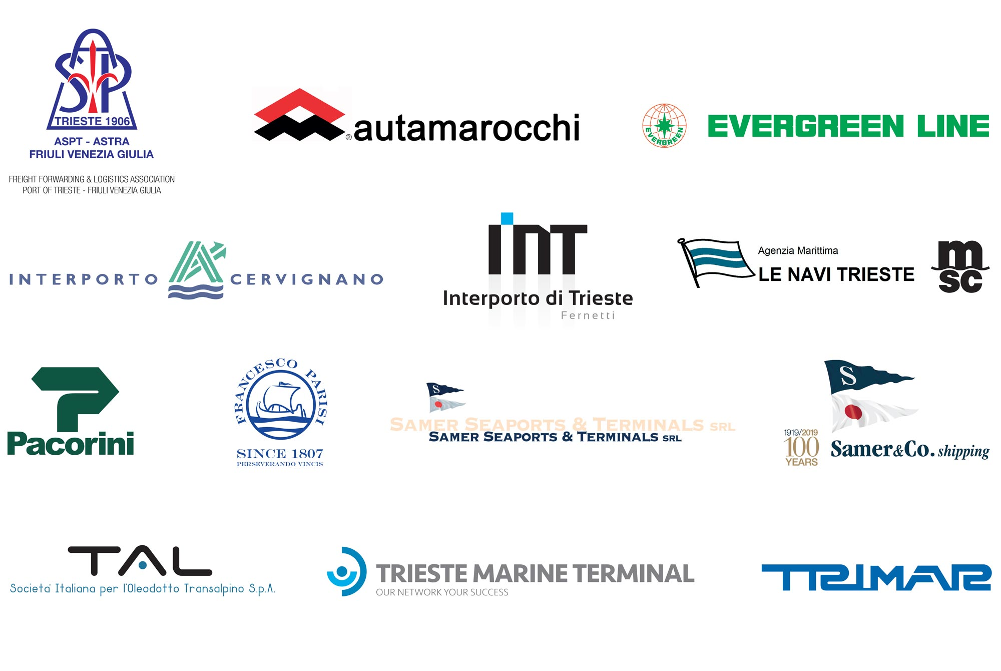 Trieste Port Community Stakeholders and Sponsors